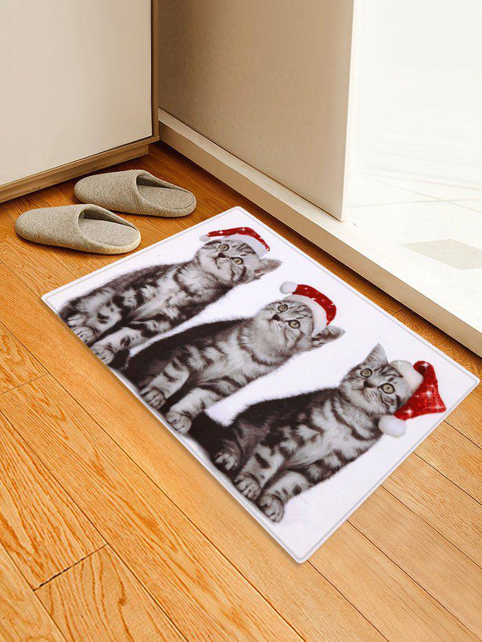 Outfits Christmas Cats Printed Antiskid Floor Mat