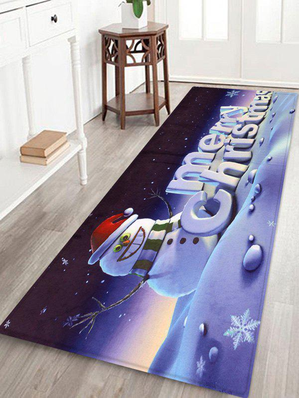 Store Merry Christmas Snowman Printed Decorative Bath Mat