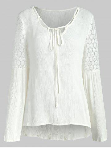 Lace Insert Cut Out Blouse