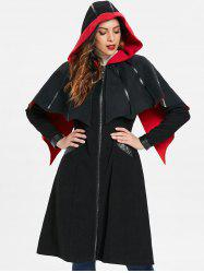 Zip Up Halloween Long Coat -