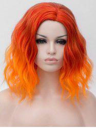 Medium Two Tone Colorful Natural Wavy Cosplay Synthetic Wig -