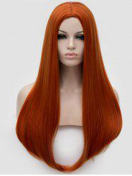 Long Middle Part Straight Cosplay Party Synthetic Wig -