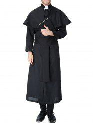 Halloween Priest Costume Coat -