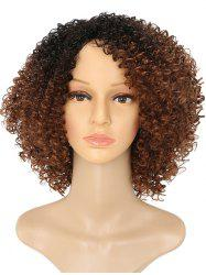Средняя сторона Bang Colormix Afro Kinky Curly Synthetic Wig -