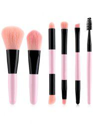 6Pcs Double Ended Ultra Soft Travel Makeup Brush Set -