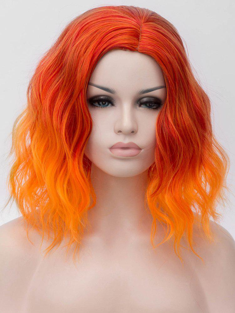 New Medium Two Tone Colorful Natural Wavy Cosplay Synthetic Wig