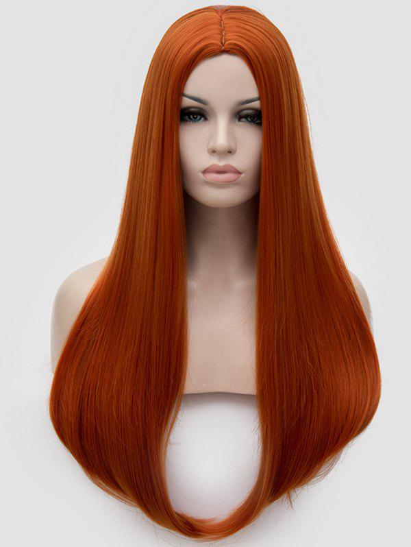 Chic Long Middle Part Straight Cosplay Party Synthetic Wig
