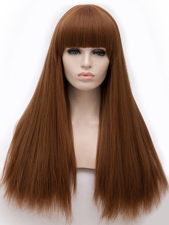 Latest Long Full Bang Straight Party Synthetic Wig