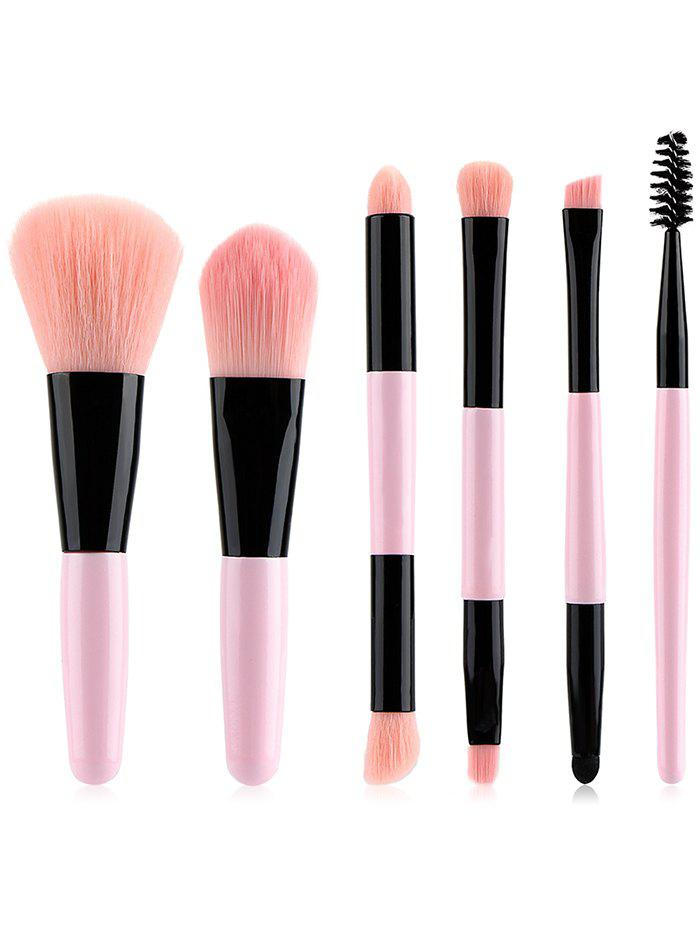 Store 6Pcs Double Ended Ultra Soft Travel Makeup Brush Set