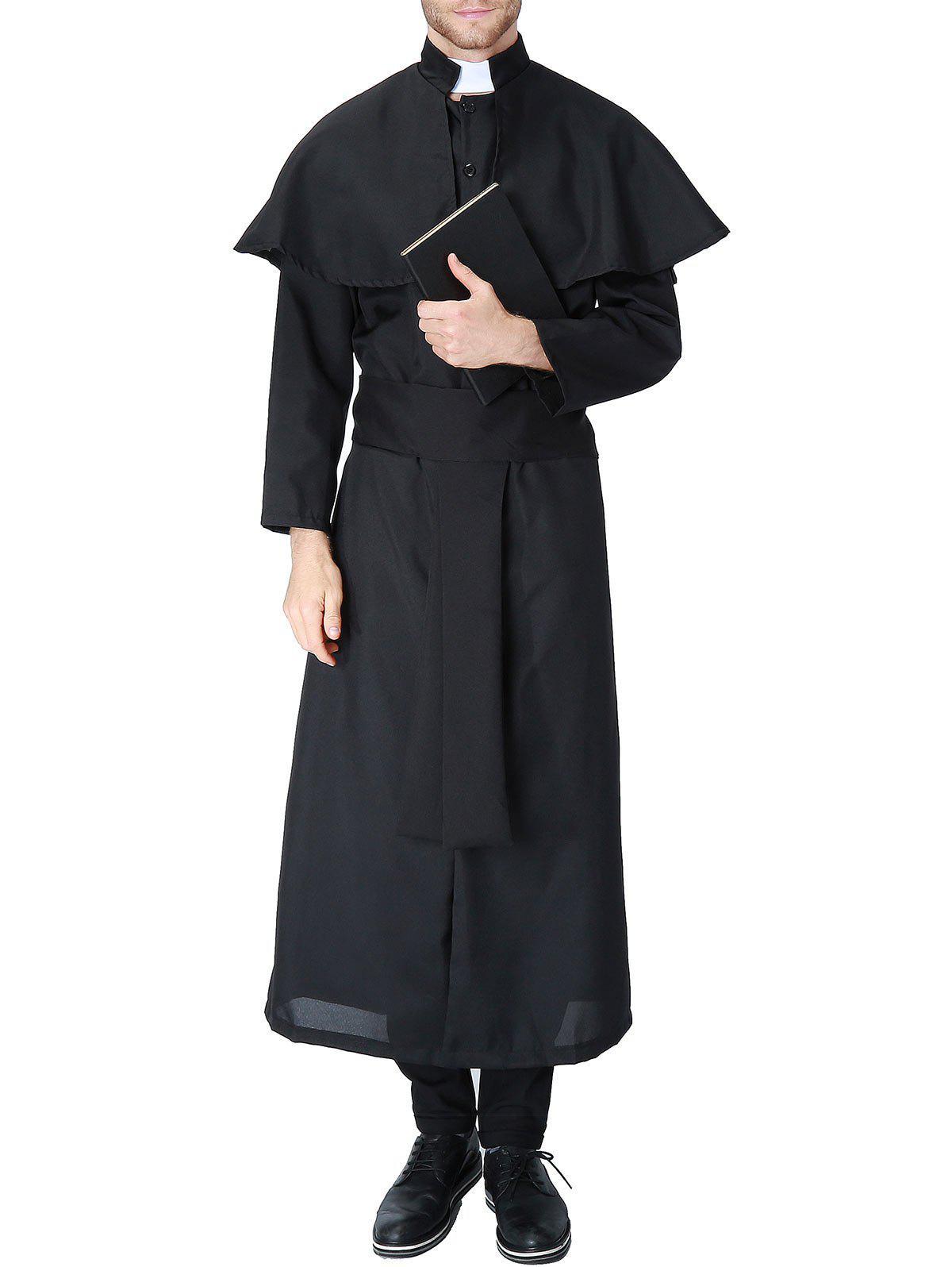 New Halloween Priest Costume Coat
