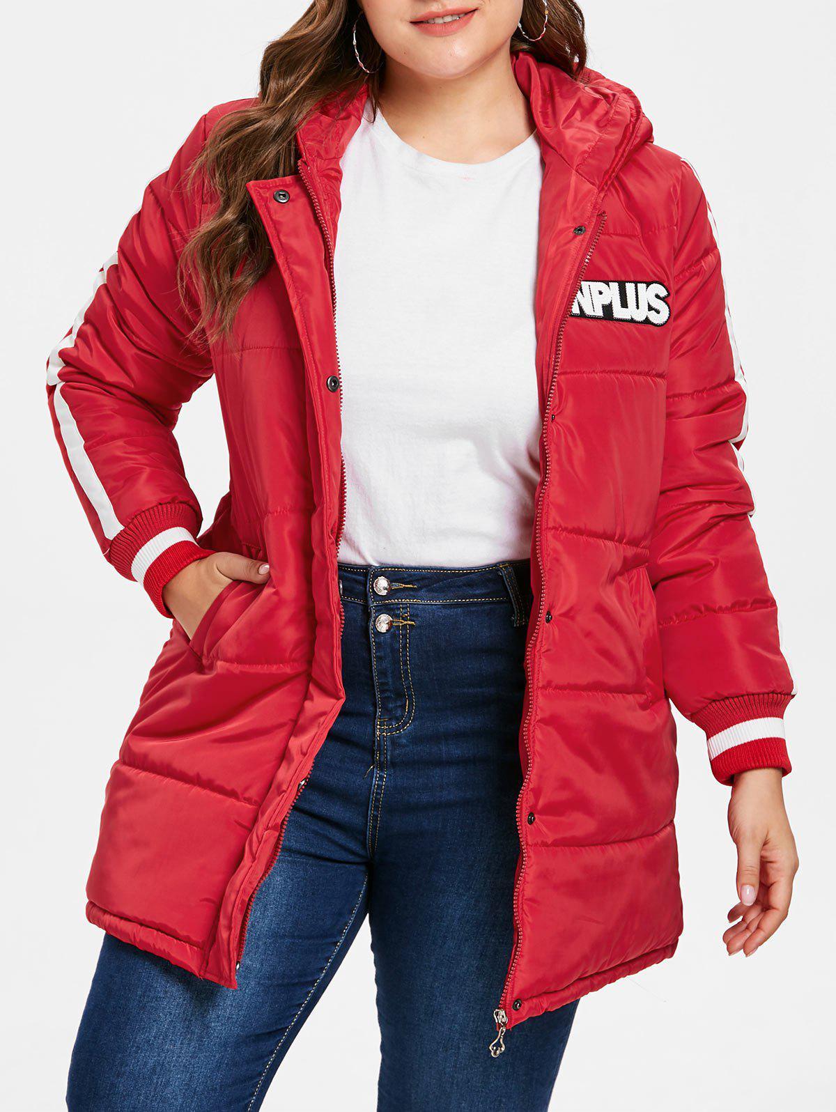Outfits Plus Size Hooded Down Coat