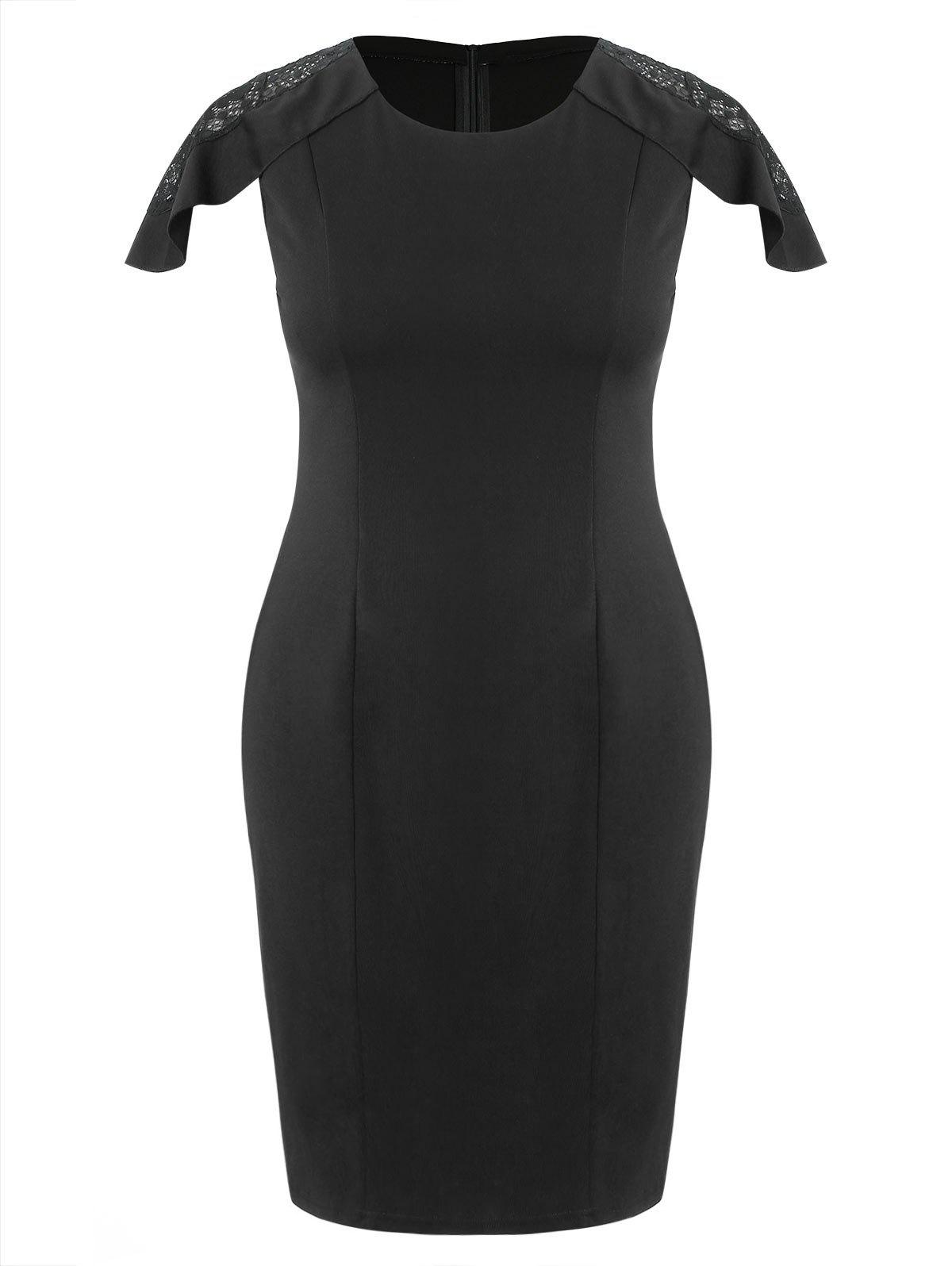 Fancy Plus Size Knee Length Bodycon Dress