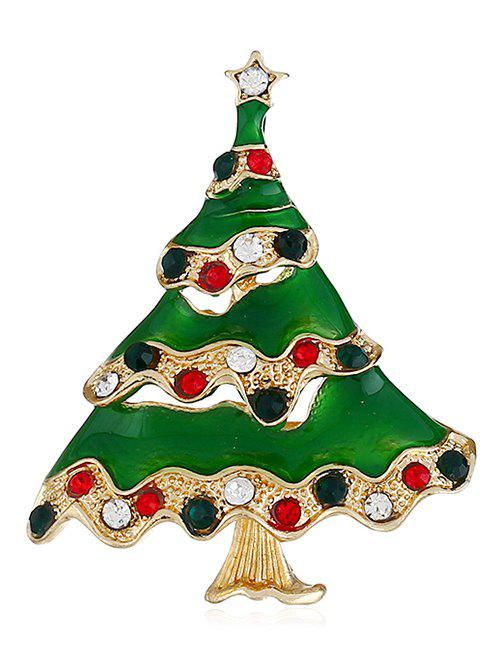 Fashion Christmas Tree Colored Rhinestone Brooch