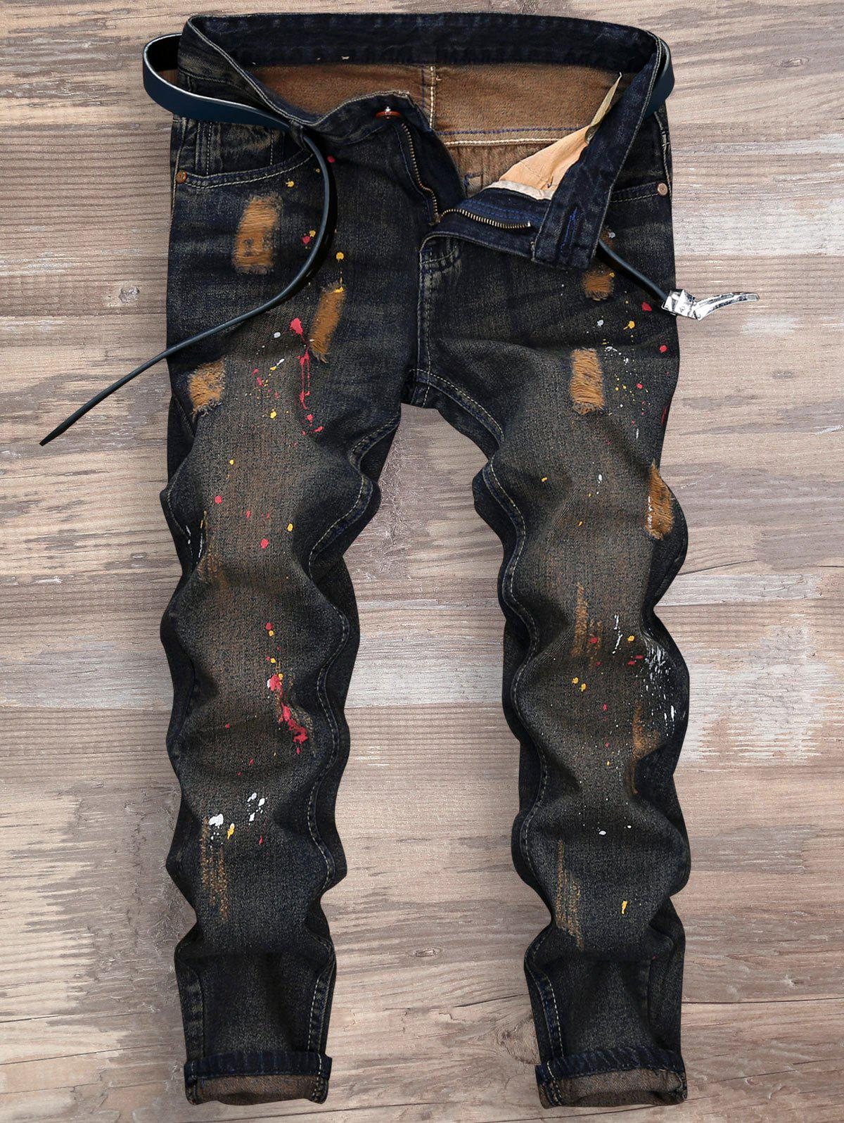 Online Splatter Paint Ripped Nine Minutes of Jeans