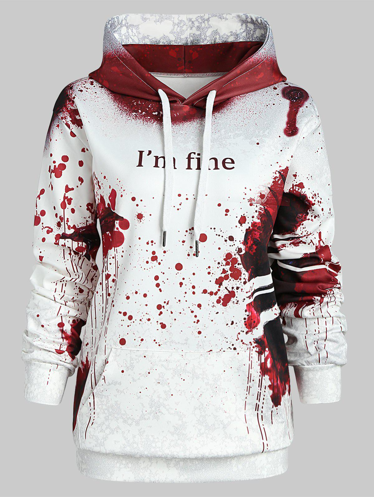 Affordable Plus Size Halloween Theme Hoodie