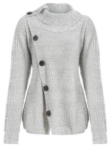 High Neck Asymmetrical Cardigan