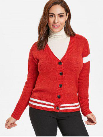 Plus Size Buttoned Sweater Cardigan