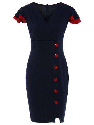 Buttons Vintage Sheath Dress