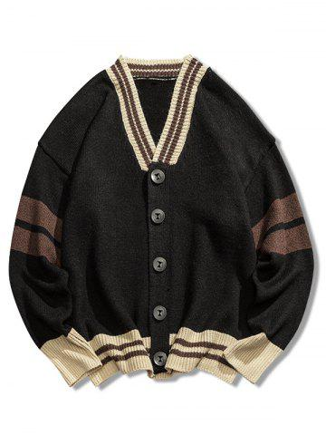 Casual Button Placket Loose Cardigan