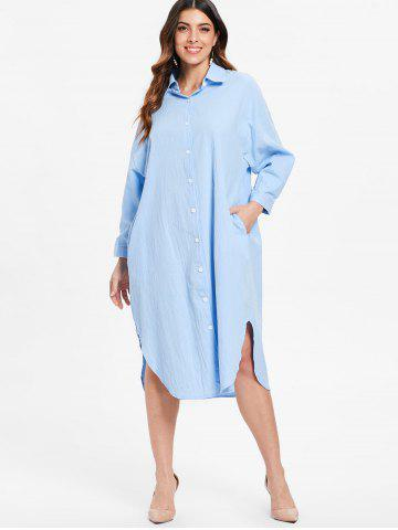Long Sleeve Midi Shirt Dress
