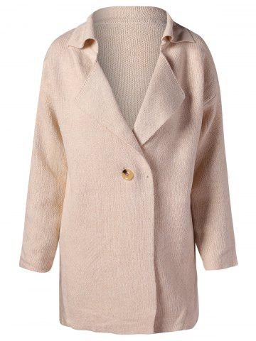 Lapel Collar Long Sleeve Cardigan