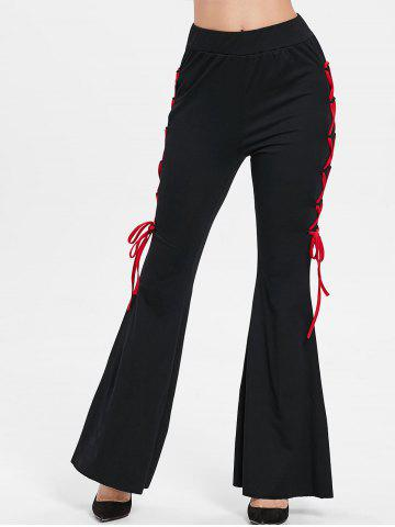 Criss Cross Side High Waist Flare Pants
