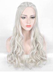 Long Center Parting Braids Wavy Film Character Cosplay Synthetic Wig -