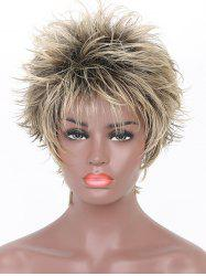 Inclined Bang Short Colormix Straight Synthetic Wig -