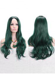 Long Middle Part Colormix Wavy Anime Cosplay Synthetic Wig -
