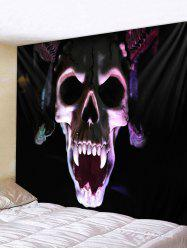 Halloween 3D Skull Print Wall Tapestry Art Decoration -