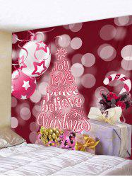 Christmas Tree Believe Print Wall Tapestry Art Decoration -