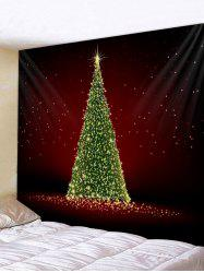 Christmas Tree Print Wall Tapestry Decoration -