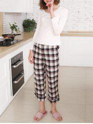 Sleep Set Tee and Plaid Pants -