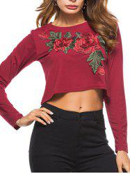 Embroidered Crop T-shirt -