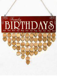 Family Birthday Wooden DIY Calendar Reminder -