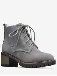 Plus Size Chunky Low Heel Chelsea Boots -