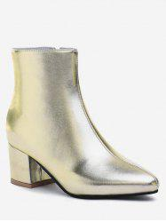 Plus Size Solid PU Leather Short Boots -