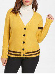 Plus Size Buttoned Sweater Cardigan -
