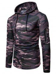 Camo Print Casual Pullover Hoodie -