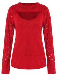 Holes Detail Cut Out Sweater -