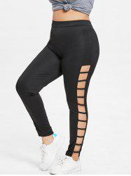 Plus Size Ladder Cut Out Leggings -