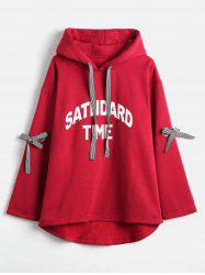 Plus Size Letter Pattern Hoodie -