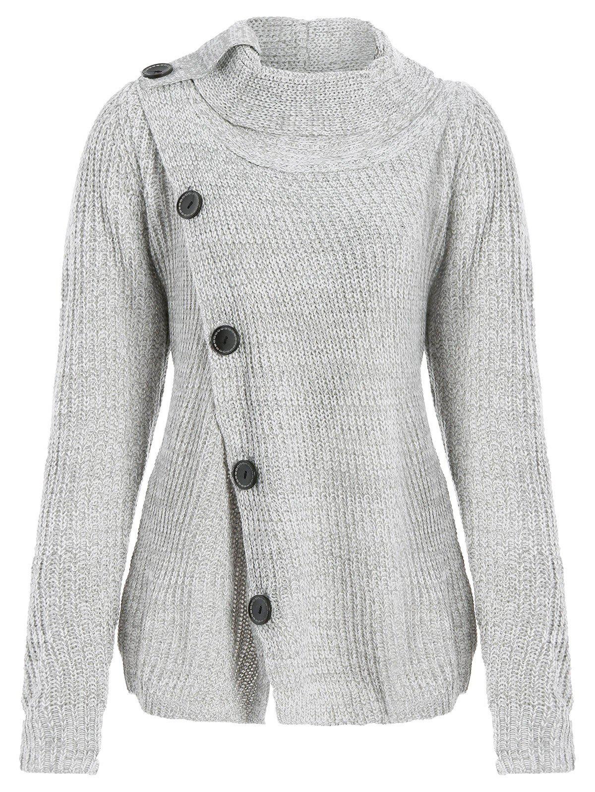 Latest High Neck Asymmetrical Cardigan