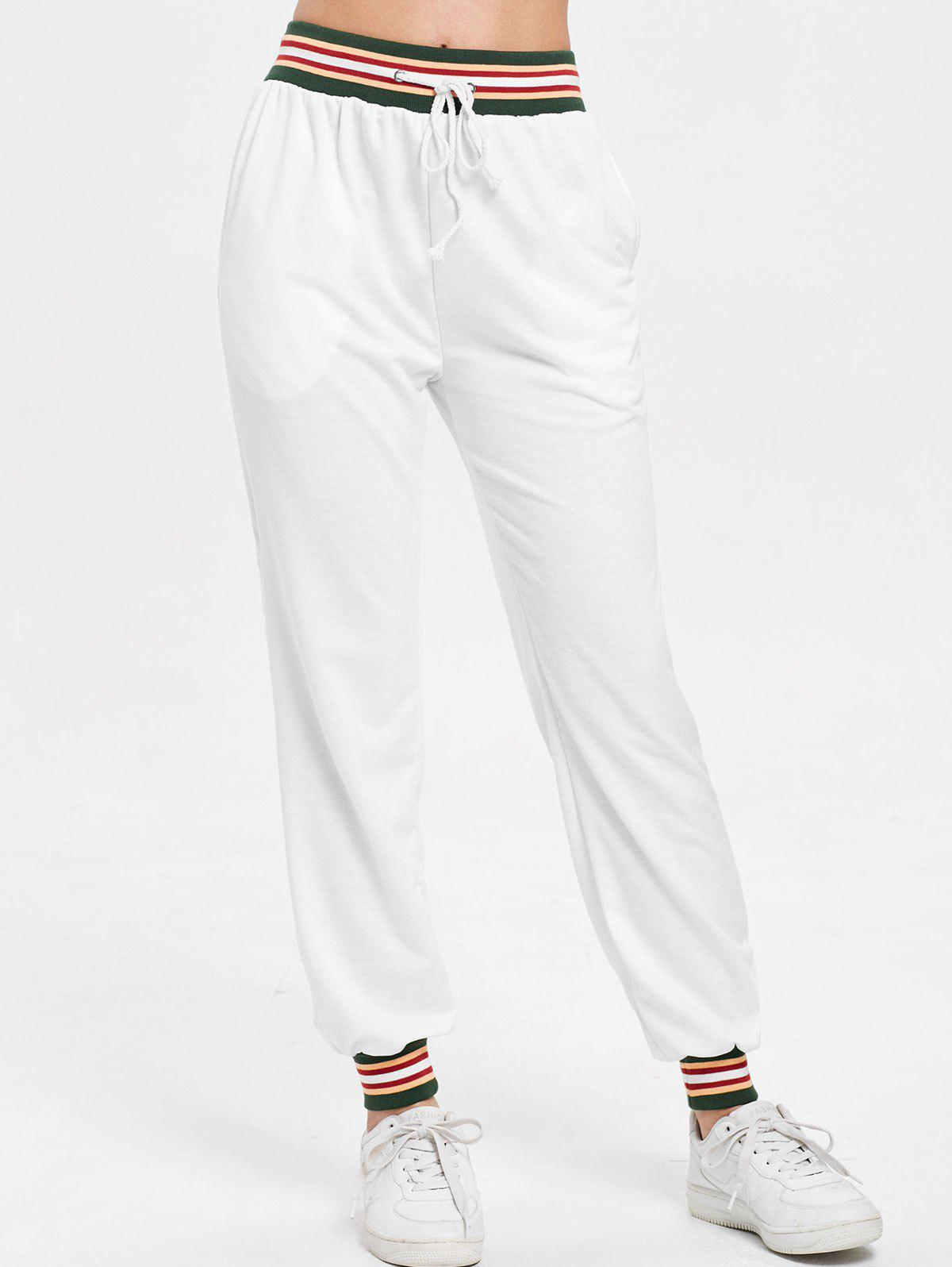 Hot Striped Drawstring Pants