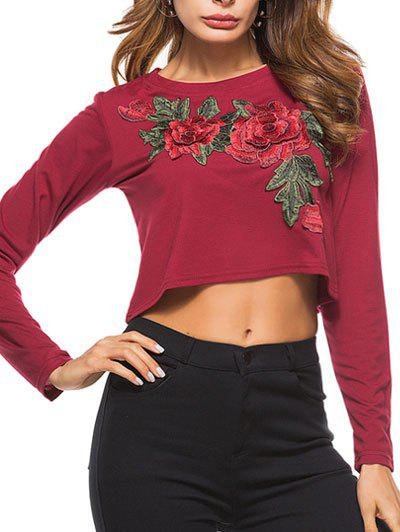 Discount Embroidered Crop T-shirt