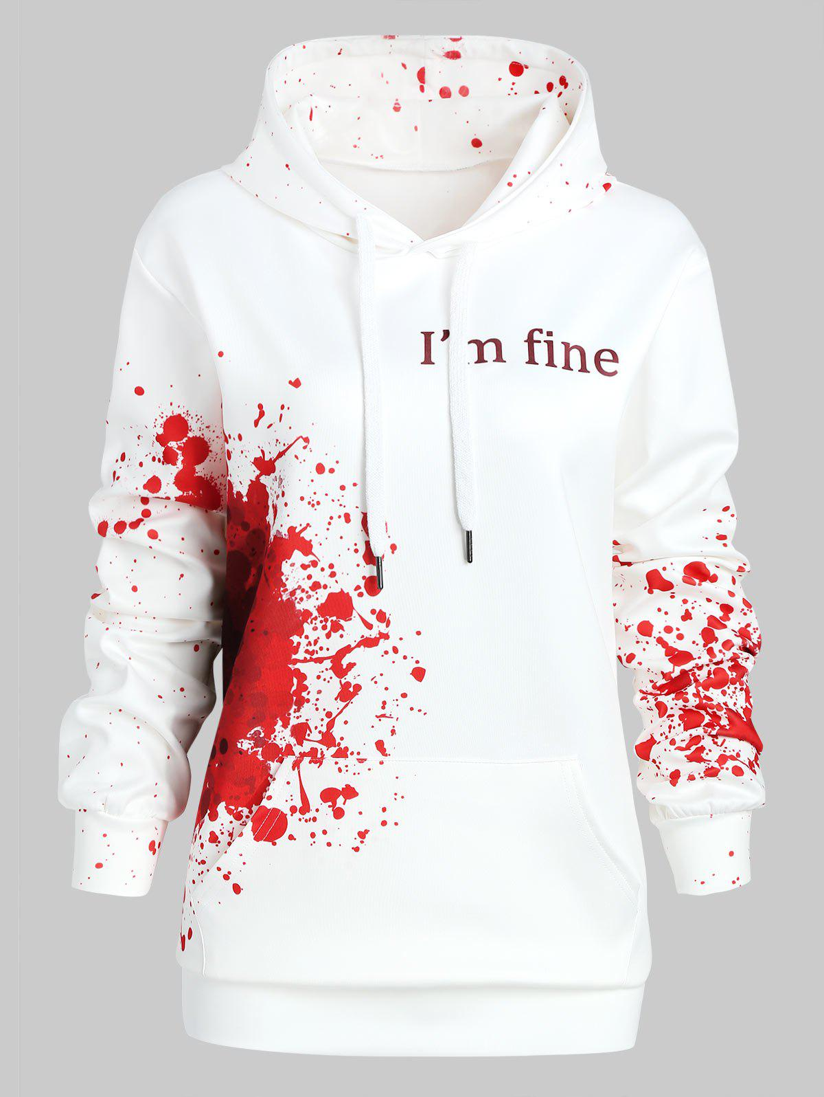 fancy plus size halloween inspired splatter hoodie