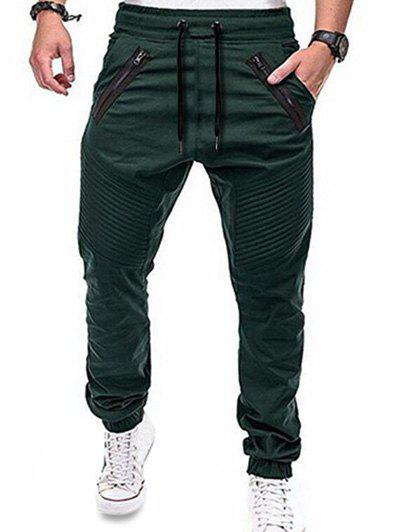 Outfits Zippers Embellished Elastic Waist Jogger Pants