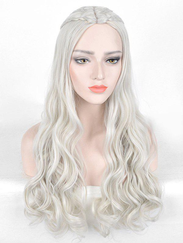 Discount Long Center Parting Braids Wavy Film Character Cosplay Synthetic Wig