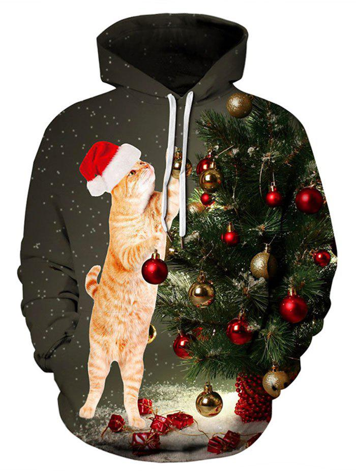 New Plus Size Christmas Tree Hoodie