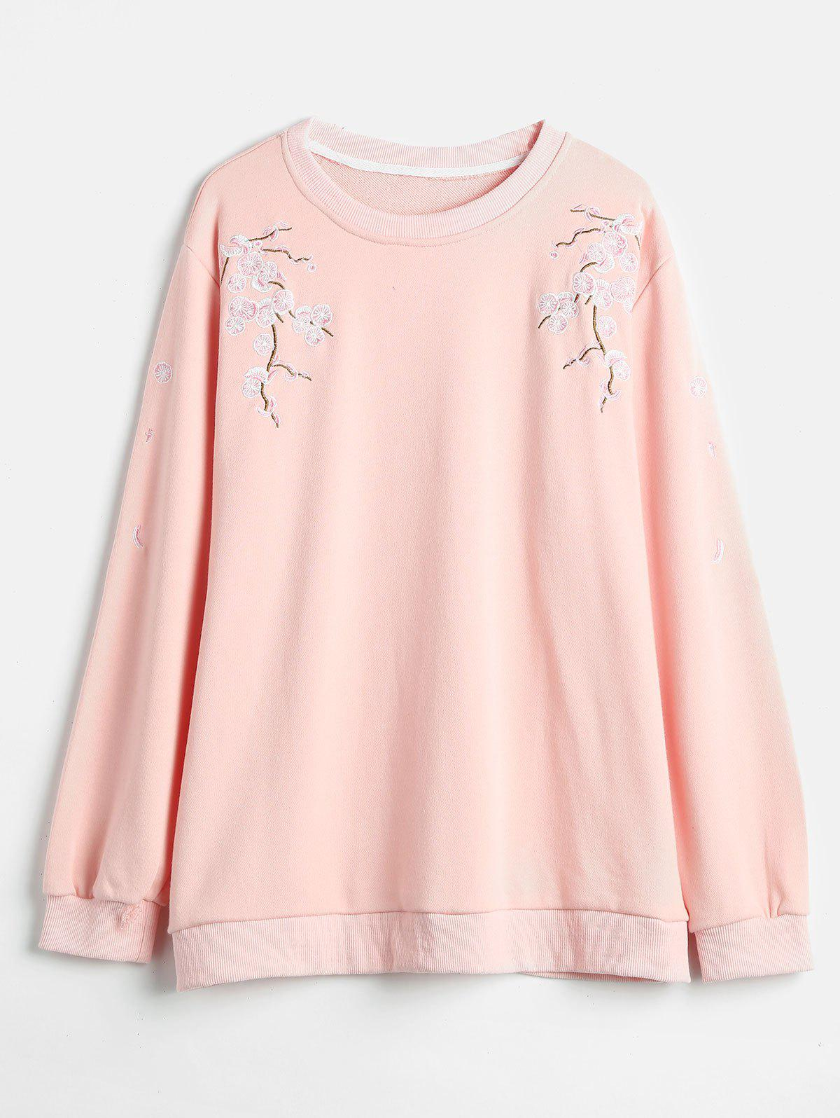Store Plus Size Embroidered Sweatshirt